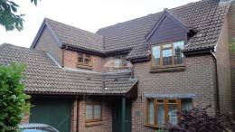 UPVC rosewood fascia soffits brown square guttering