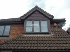 Rosewood UPVC cladding on dorma window