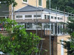 Equinox roof tiles on a conservatory
