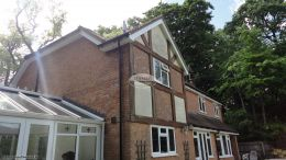 Replacing White Fascias Soffits and black Guttering On Detached Property