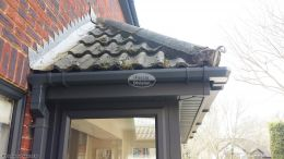 Anthracite UPVC square guttering, fascias and soffits