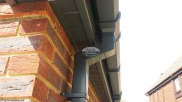 Anthracite grey square guttering and downpipe
