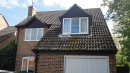 Full replacement of fascias, soffits, guttering and cladding in black UPVC
