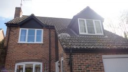 Full replacement of fascias, soffits and guttering in black ash UPVC