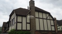 Soffit and fascia replacement in rosewood UPVC