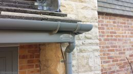 UPVC grey fascias and guttering