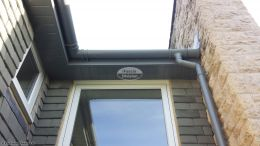 UPVC grey soffits,fascias and guttering
