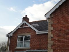 White fascia guttering concave decorative bargeboards