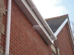 white soffit and fascia white deep flow guttering