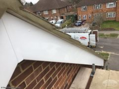Cement mortar repointing and UPVC bargeboards
