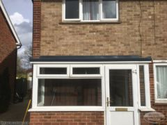 Replace flat roof with GRP roof