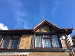 UPVC rosewood soffit and fascia installation Crawley