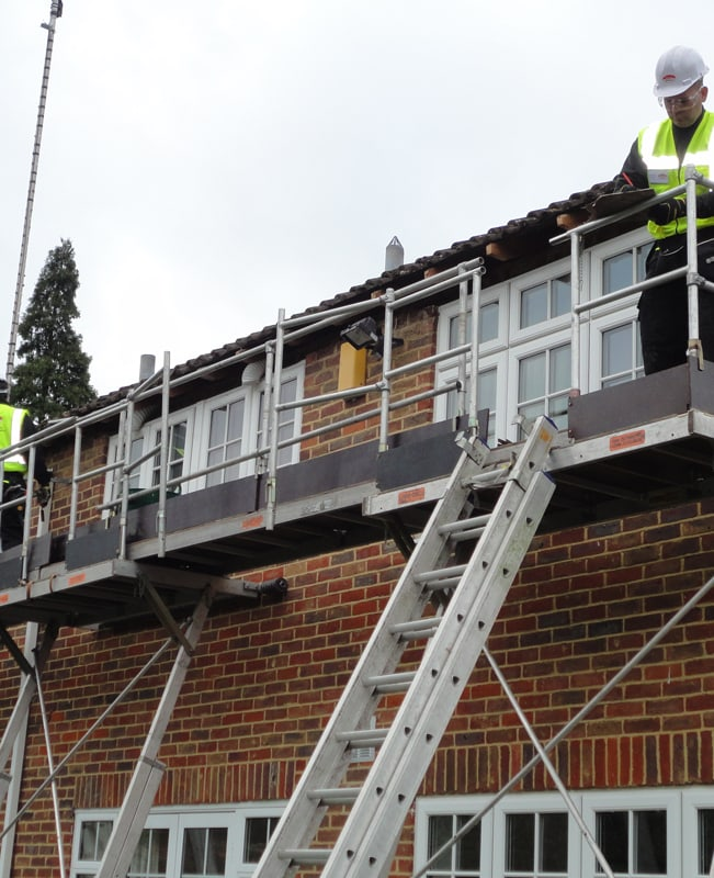 Removing fascia using Easi-dec access system