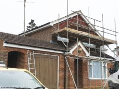 Cement mortar re-point gable end