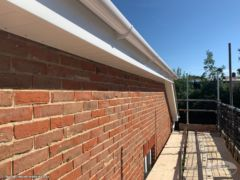 White fascias, soffits and guttering installation