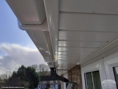 UPVC soffits and fascias in white